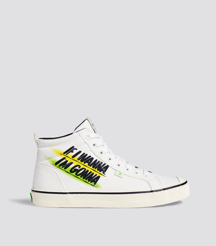 OCA High Stripe Off White Baron Von Fancy Canvas Sneaker Women