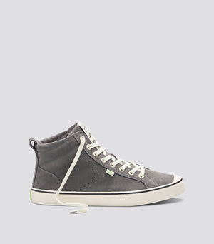 OCA High Stripe Charcoal Grey Suede Sneaker Men