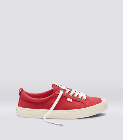 OCA Low Red Canvas Sneaker Women