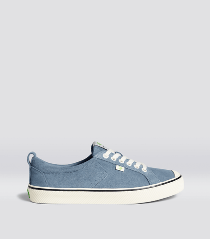 OCA Low Stripe Blue Mirage Suede Sneaker Men