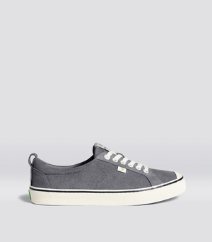 OCA Low Stripe Charcoal Grey Suede Sneaker Men