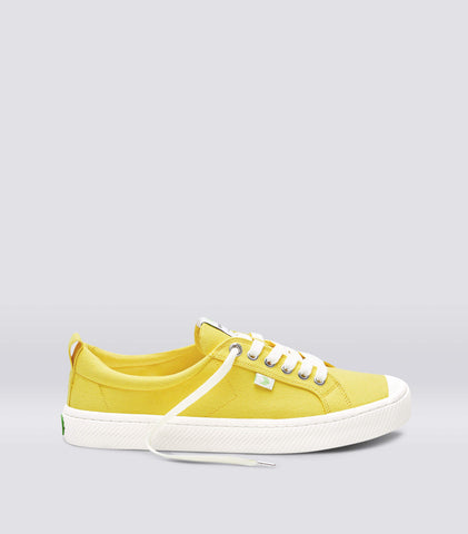 OCA Low Yellow Canvas Sneaker Women
