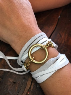 Leather choker/wrap bracelet