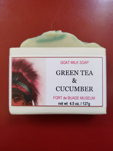 Green Tea and Cucumber Goat Milk Bar Soap