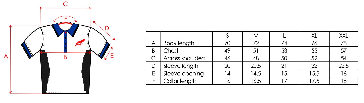 Feather Green Size Chart