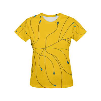 Blue Bird Yellow T Shirt