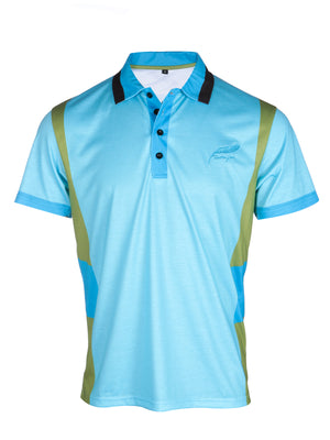 Feather green lightweight soft sports polo shirt the mallard front