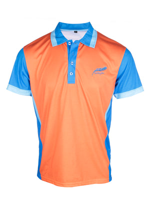 Feather green lightweight soft sports polo shirt the kingfisher front