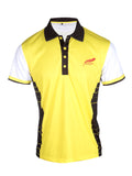 Feather green lightweight soft sports polo shirt the great kiskadee front