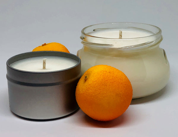 orange citrus candle