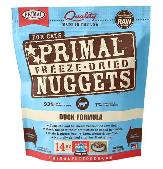 Primal Freeze Dried Nuggets Grain Free Duck Formula Cat Food