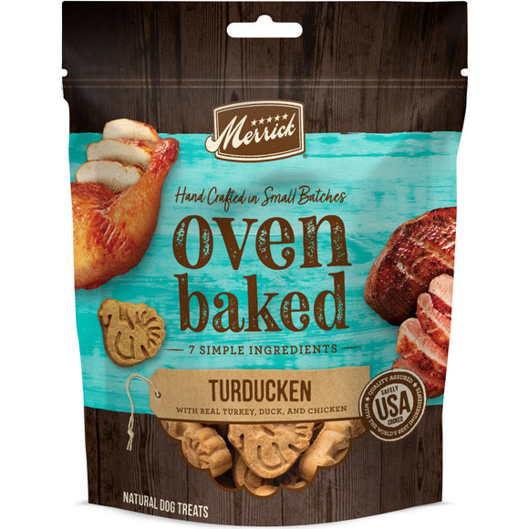 Merrick Oven Baked Turducken Turkey Duck & Chicken Dog Treats