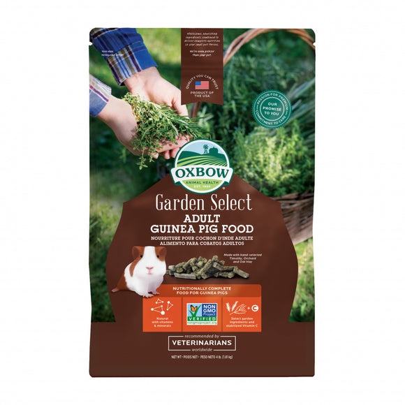Oxbow Animal Health Garden Select Adult Guinea Pig Food Garden Inspired Recipe for Adult Guinea Pigs