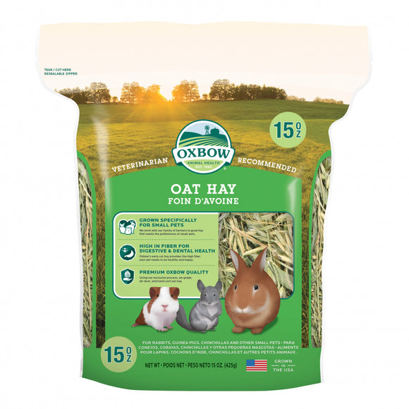 Oxbow Animal Health Oat Hay All Natural Hay for Rabbits Guinea Pigs Chinchillas Hamsters & Gerbils