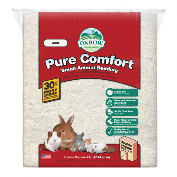 Oxbow Animal Health Pure Comfort Bedding White Liter Bag