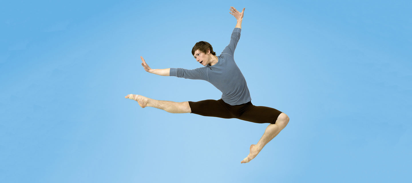 male dancer flying