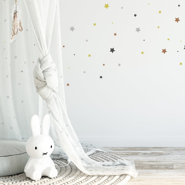 Add 60 Confetti Stars - Stickaroo Wall Decor