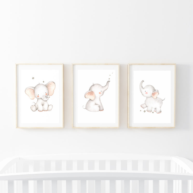 Goognight Elephants Print Set - Stickaroo Wall Decor