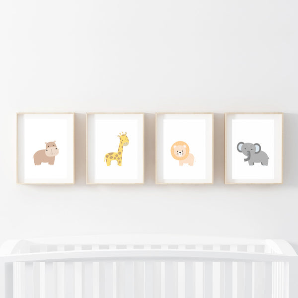 Baby Animals Print Set - Stickaroo Wall Decor