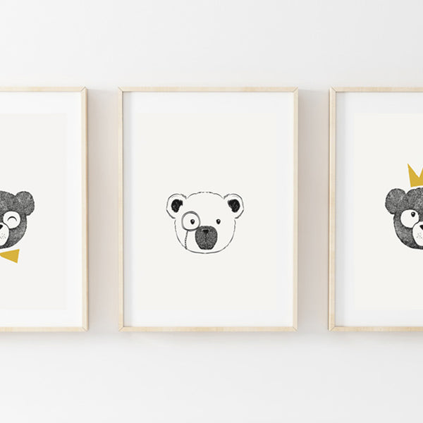 Bear Brothers Print Set - Stickaroo Wall Decor