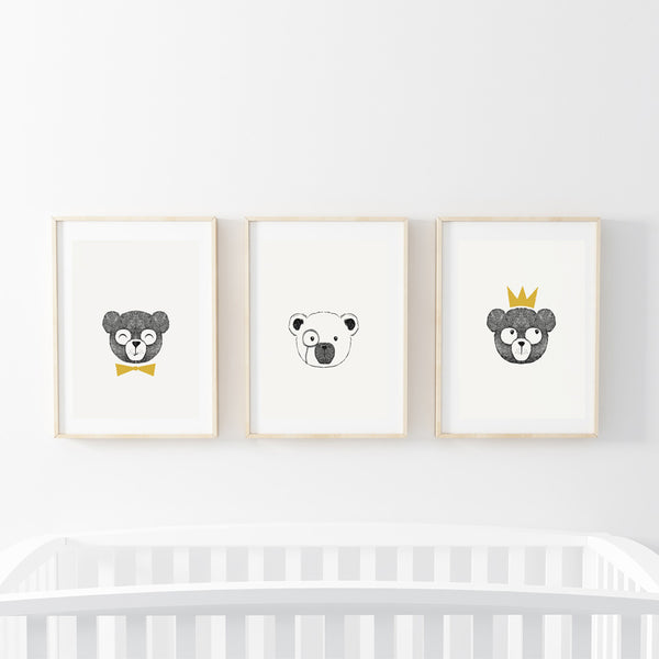 Bear Brothers Print Set