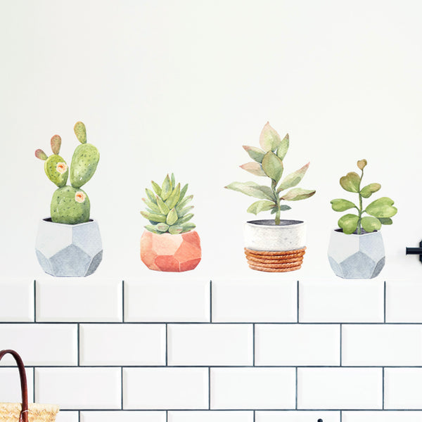 Cacti Pots - Stickaroo Wall Decor