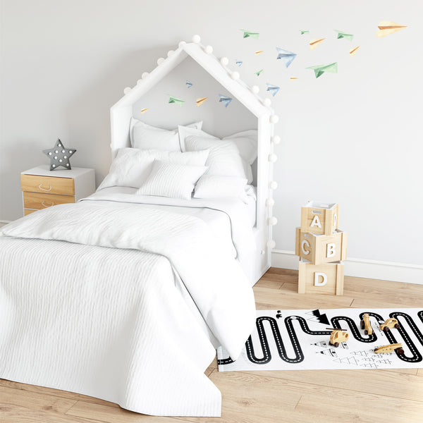 Colourful Paper Planes - Stickaroo Wall Decor