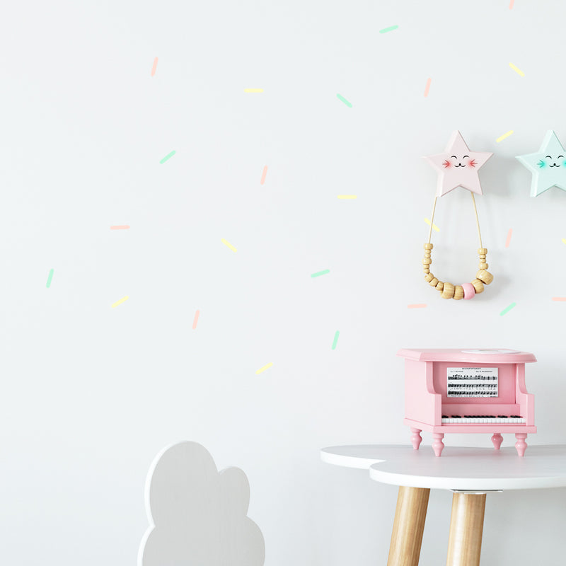 Confetti Strips Pastel - Stickaroo Wall Decor