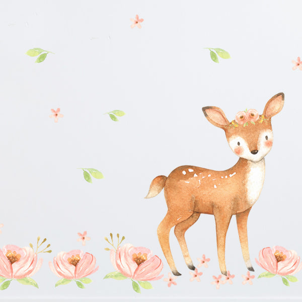 Deer & Owl Field - Stickaroo Wall Decor