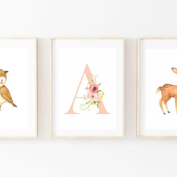 Deer Field Poster Set - Stickaroo Wall Decor