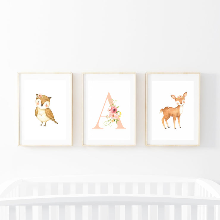 Deer Field Print Set