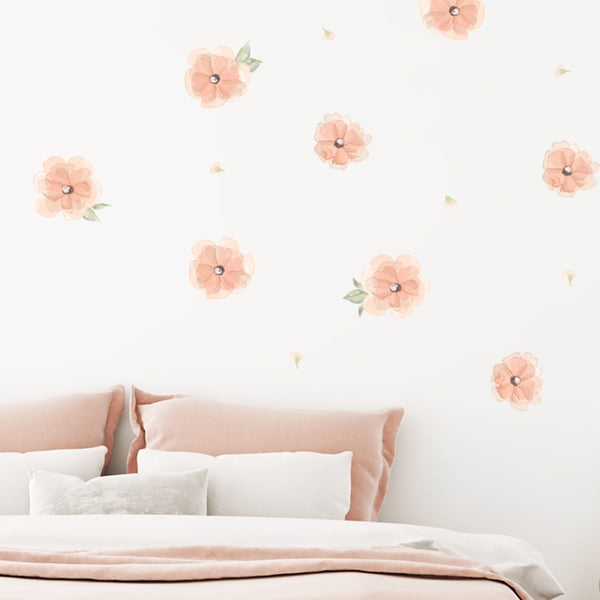 Dreamy Blush Flowers - Stickaroo Wall Decor