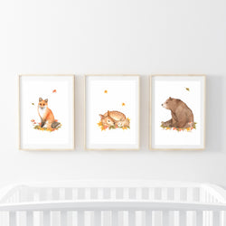 Forest Animals Print Set