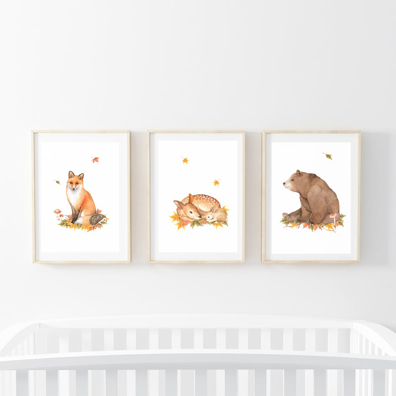 Forest Animals Print Set - Stickaroo Wall Decor
