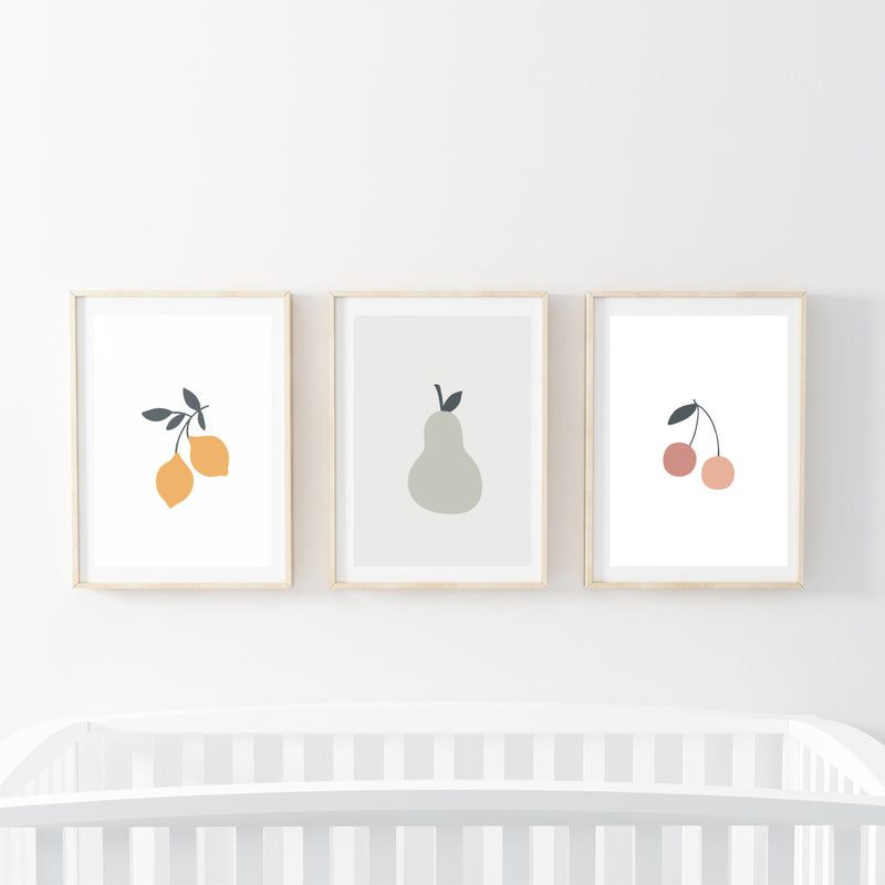 Fruits Print Set - Stickaroo Wall Decor