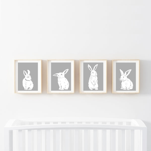 Goodnight Bunnies Print Set - Stickaroo Wall Decor