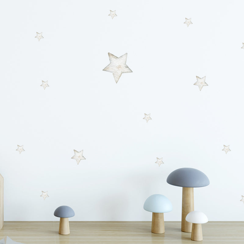 Grey Watercolour Stars - Stickaroo Wall Decor