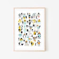 Hipster Alphabet Print - Stickaroo Wall Decor
