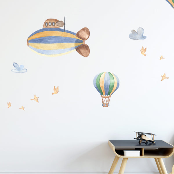 Hot Air Balloons & Birds - Stickaroo Wall Decor