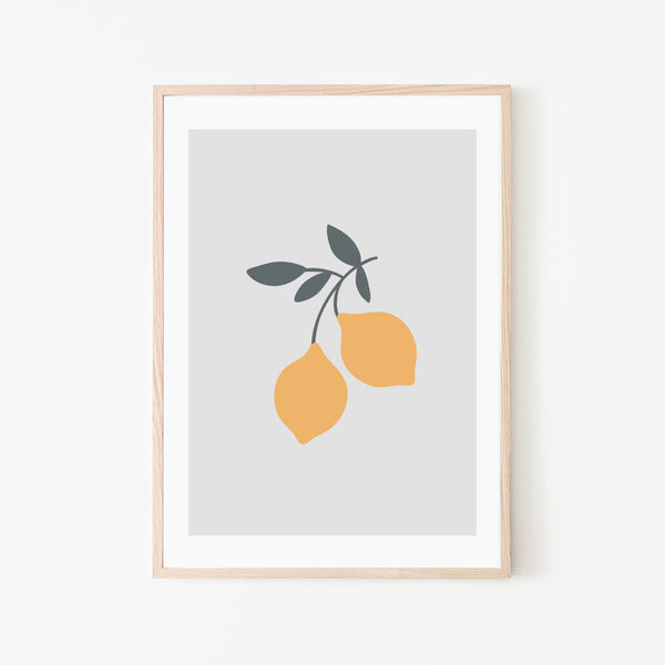 Lemons Print - Stickaroo Wall Decor