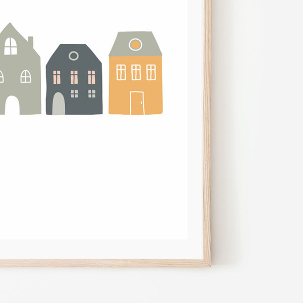 Mini Town Print - Stickaroo Wall Decor
