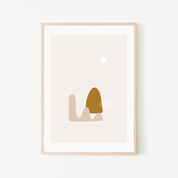 Nordic Moon Print - Stickaroo Wall Decor