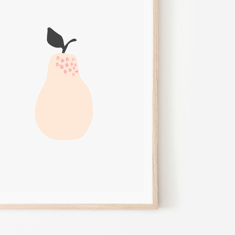 Pear Print - Stickaroo Wall Decor