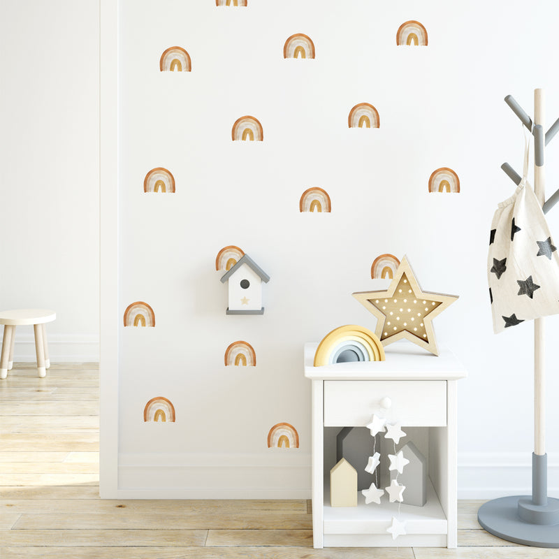 Small Golden Rainbows - Stickaroo Wall Decor