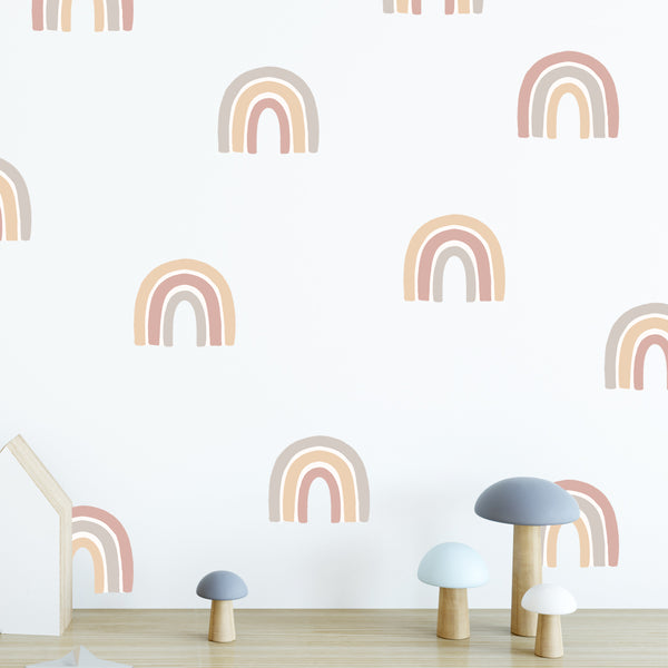 Small Tan Rainbows - Stickaroo Wall Decor