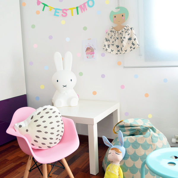 Small Dots Pastel - Stickaroo Wall Decor