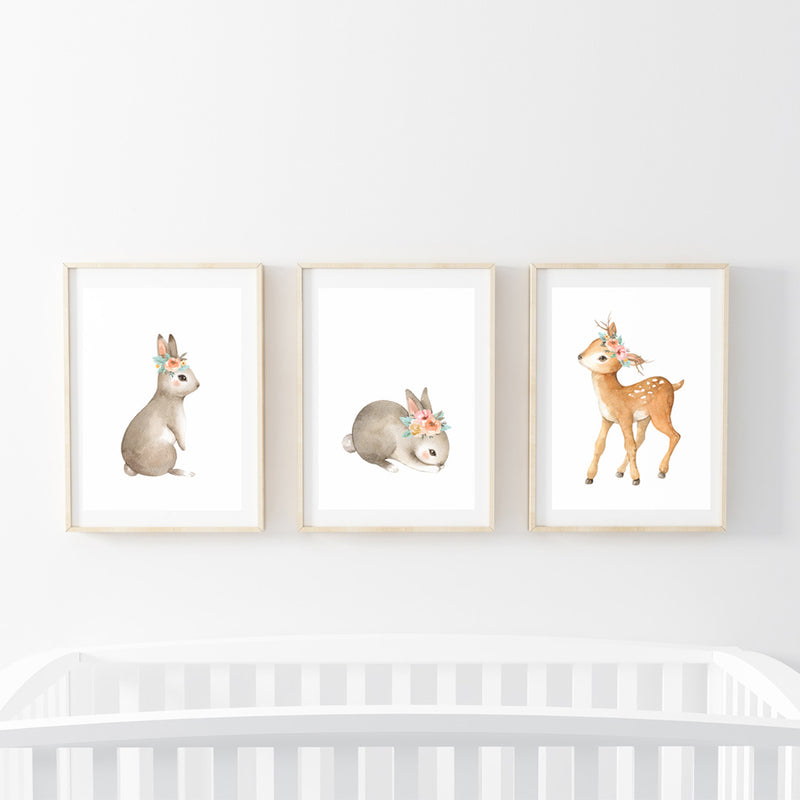 Summer Animals Print Set - Stickaroo Wall Decor