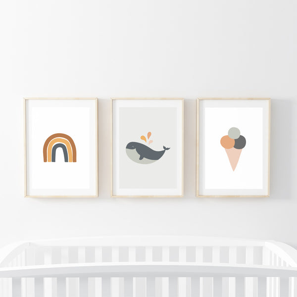 Summer Life Print Set - Stickaroo Wall Decor