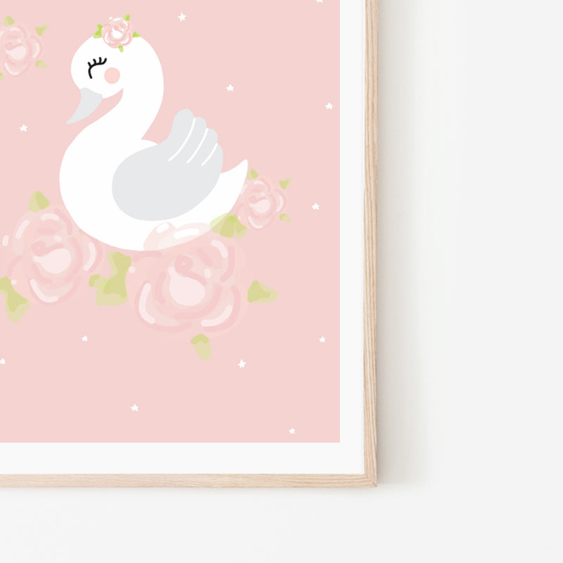 Swan Print - Stickaroo Wall Decor