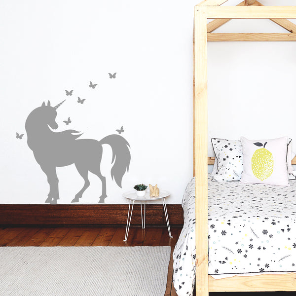 Unicorn and Butterflies - Stickaroo Wall Decor